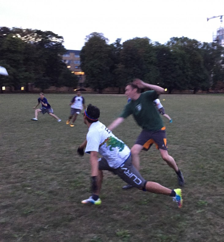 Juan in action during the Clissold Cup