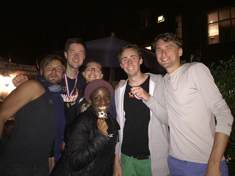 The winners of the 2016 Clissold Cup Hat tournament show off their medals